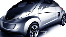 Mitsubishi i MiEV SPORT AIR Concept illustrations