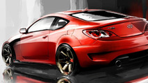 Hyundai Genesis Coupe 3.8L by ARK Performance design sketches 27.09.2010