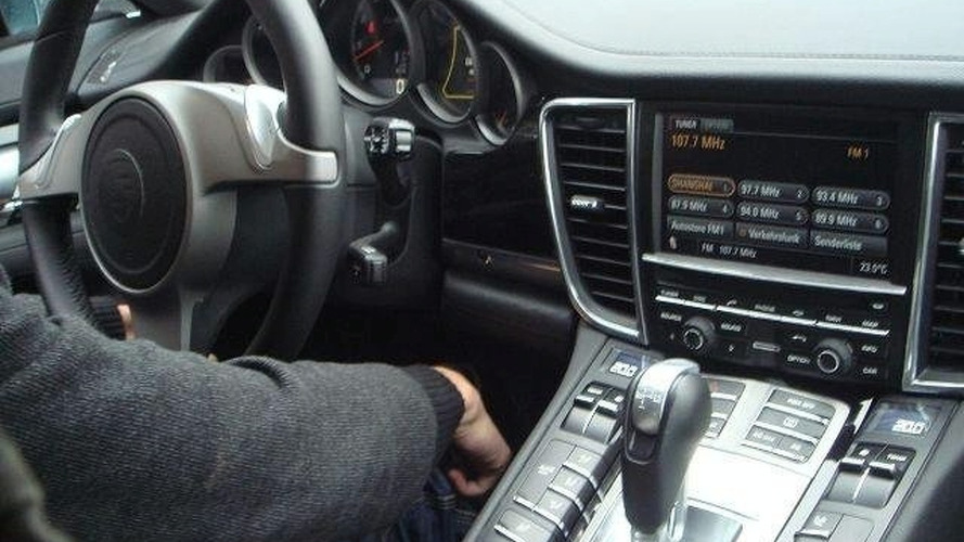 Porsche Panamera Interior Spied From Passenger Seat
