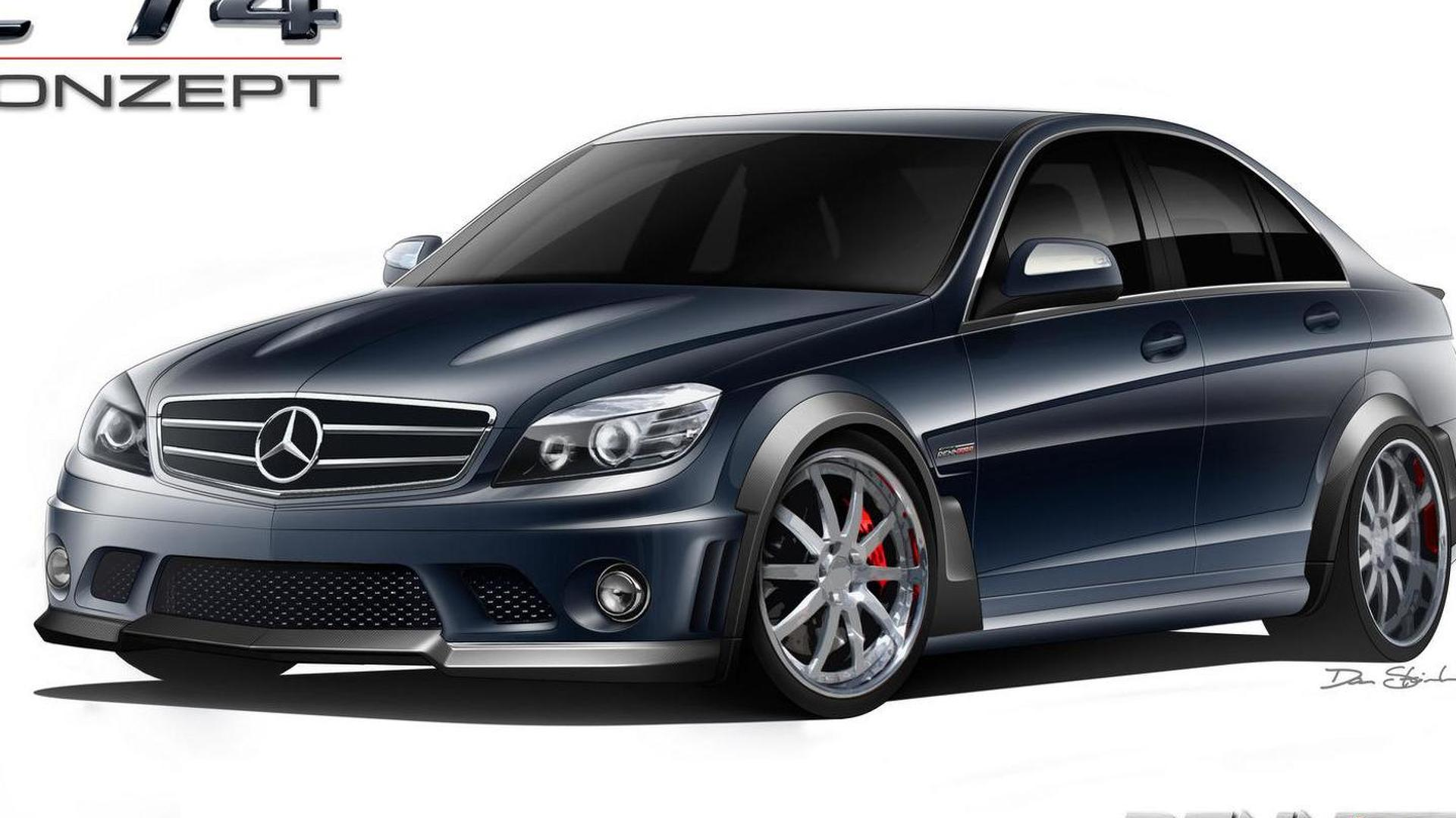 Mercedes-Benz C63 AMG with Akrapovic exhaust sound [video