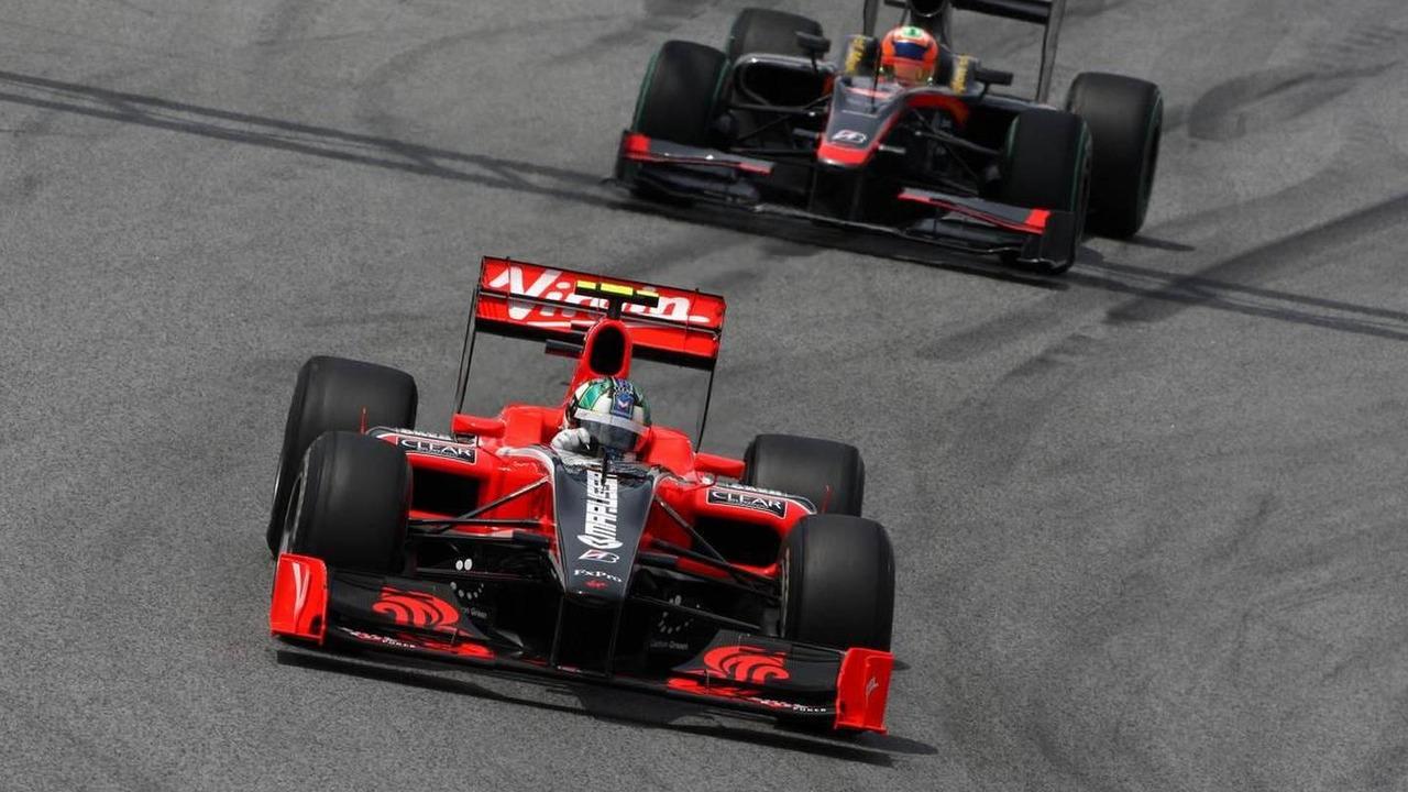 Lucas di Grassi (BRA), Virgin Racing, Karun Chandhok (IND), Hispania Racing F1 Team HRT