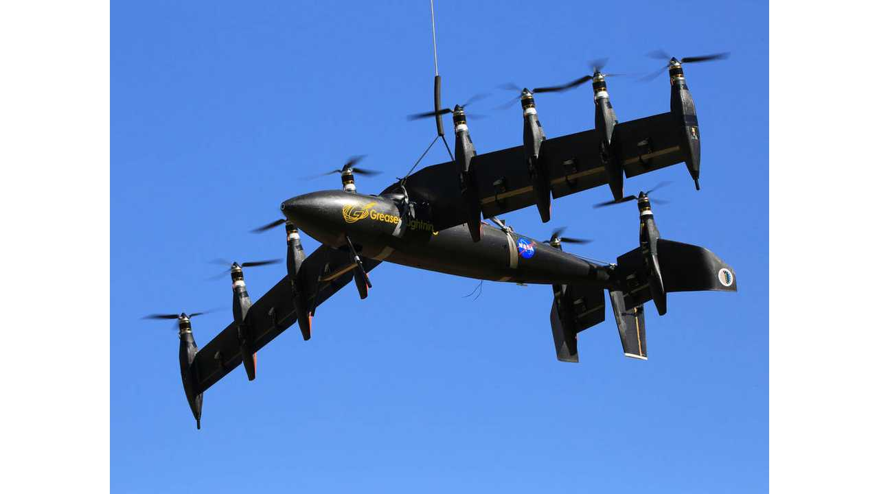 NASA's Greased Lightning GL-10 Electric Airplane Completes Transition Test - Video