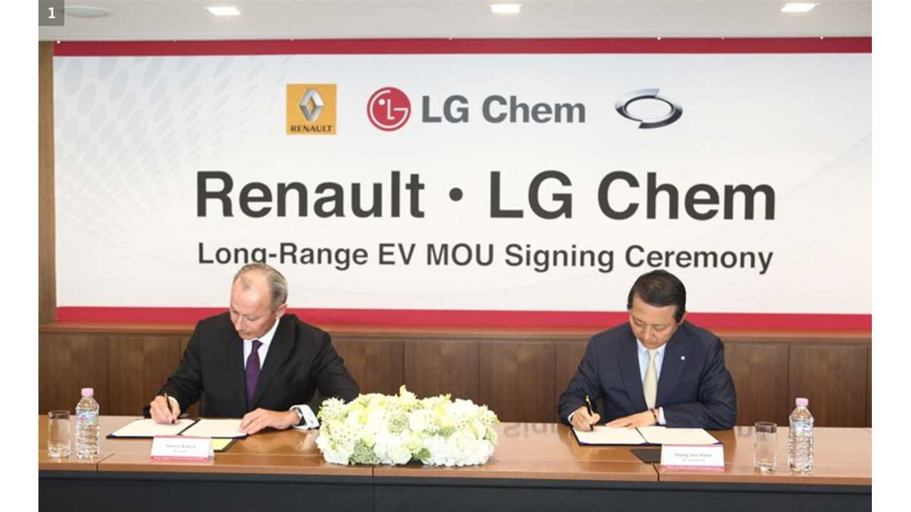 Renault Inks Battery Deal With LG Chem Earlier In 2014