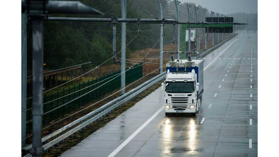 Scania To Test Electric Trucks On Electric Roads