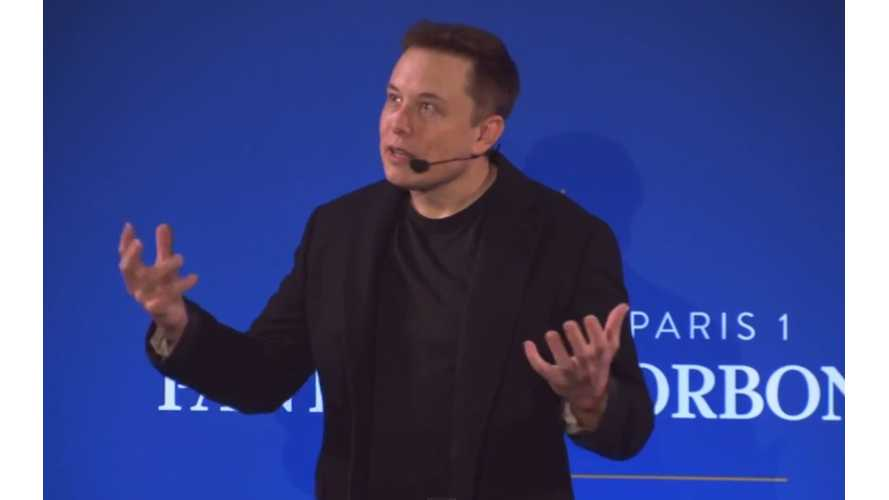 Tesla CEO Elon Musk On Climate Change In Paris For COP21 - Video