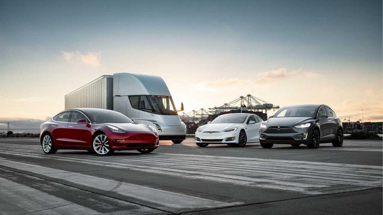 Tesla Model S, 3, X And Semi Unite In New Photo