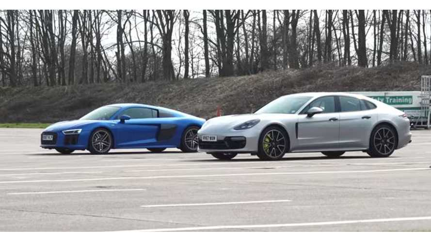 Watch Porsche Panamera Plug-In Hybrid Blow Away Audi R8
