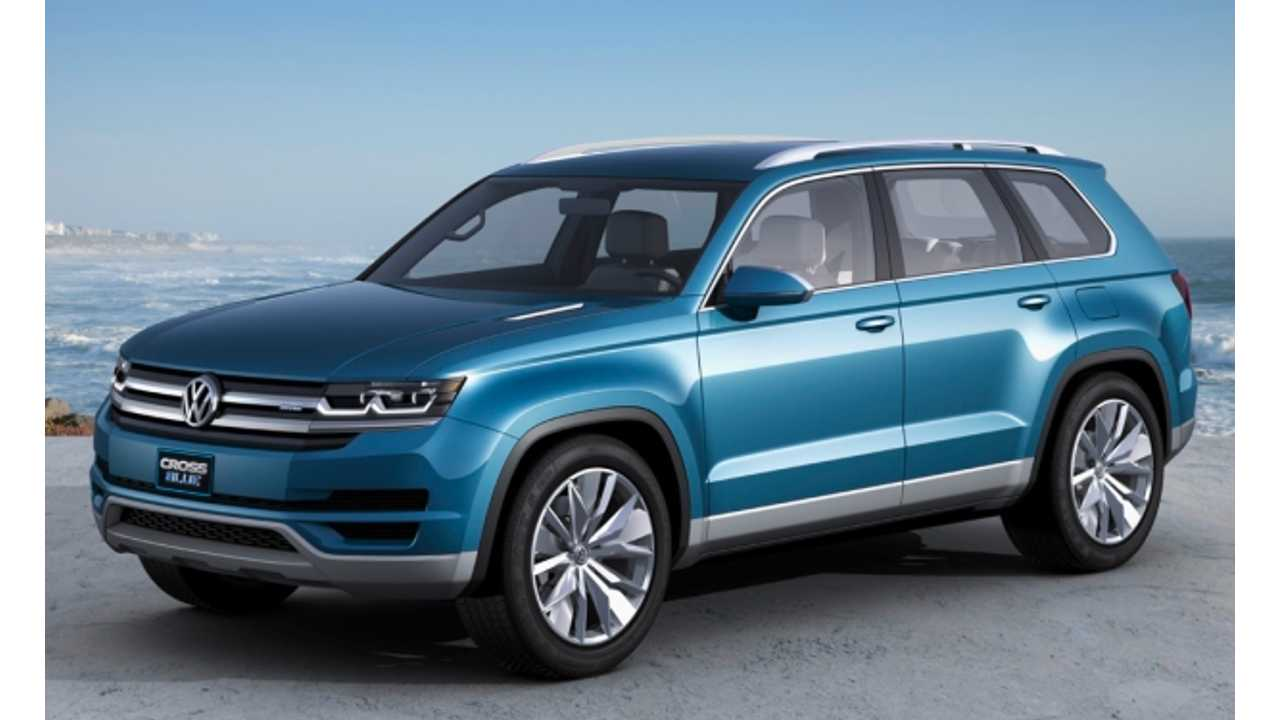 Volkswagen CrossBlue Midsize PHEV SUV To Be Built In Tennessee