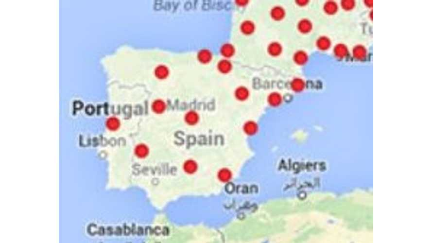 Elon Musk: Tesla Supercharger Coverage For All Of Spain And Portugal By End Of 2015