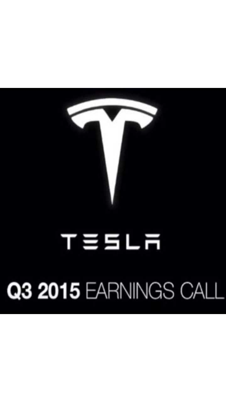 Complete Audio From Tesla's Q3 Conference Call - Video