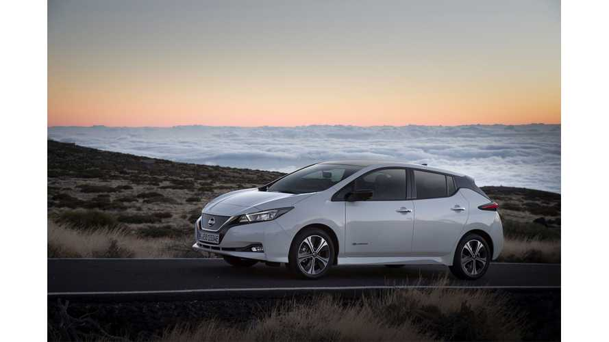 Nissan LEAF Sets Sales Record In Norway In Its First Month