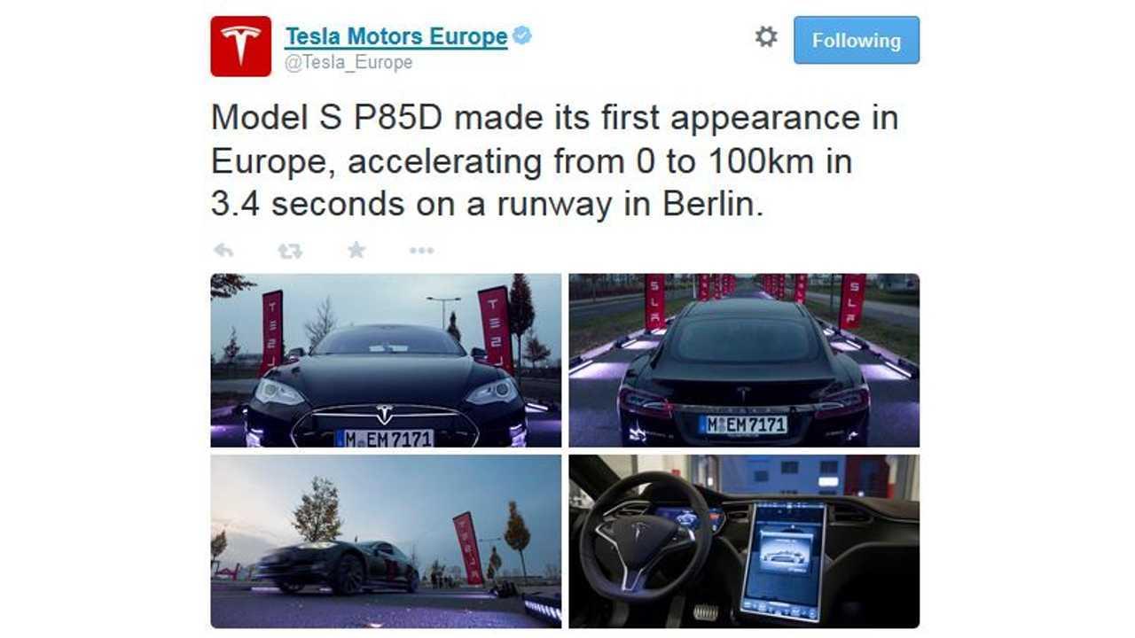 Tesla Model S P85D In Europe