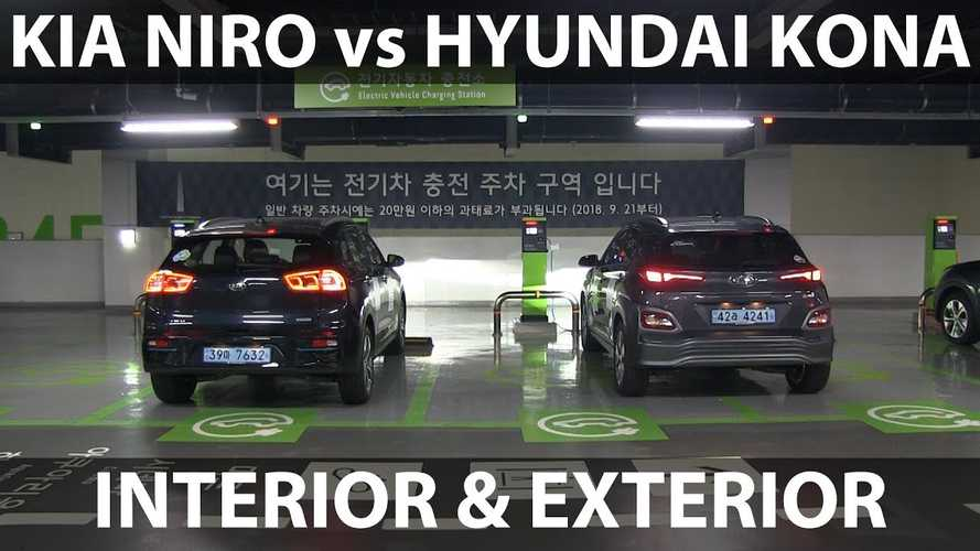 Hyundai Kona Electric Compared To Kia Niro EV: Video