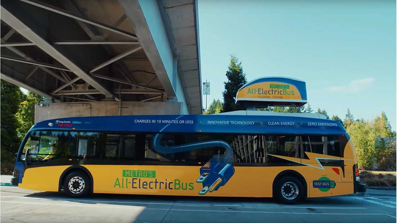 Proterra Catalyst Electric Bus Completes Reliability Test By King County Metro