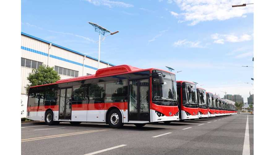 Boat Full Of Electric BYD Buses Arrives In Chile