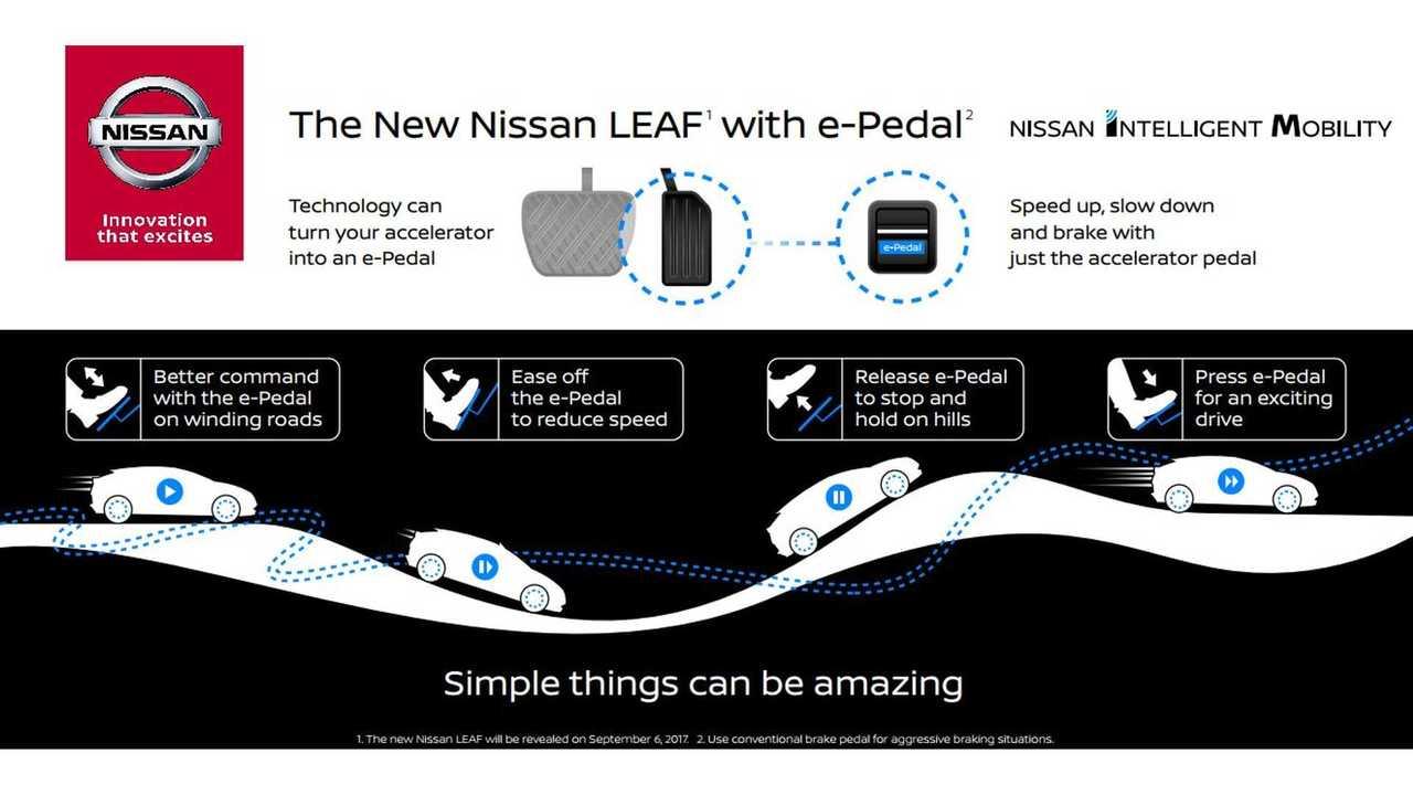 Next-Gen Nissan LEAF To Get New e-Pedal Technology