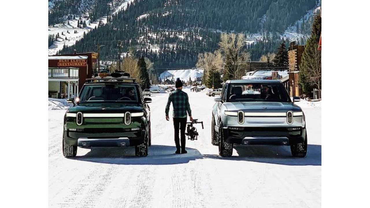 See Rivian R1T Pickup Truck & R1S Electric SUV Side-By-Side