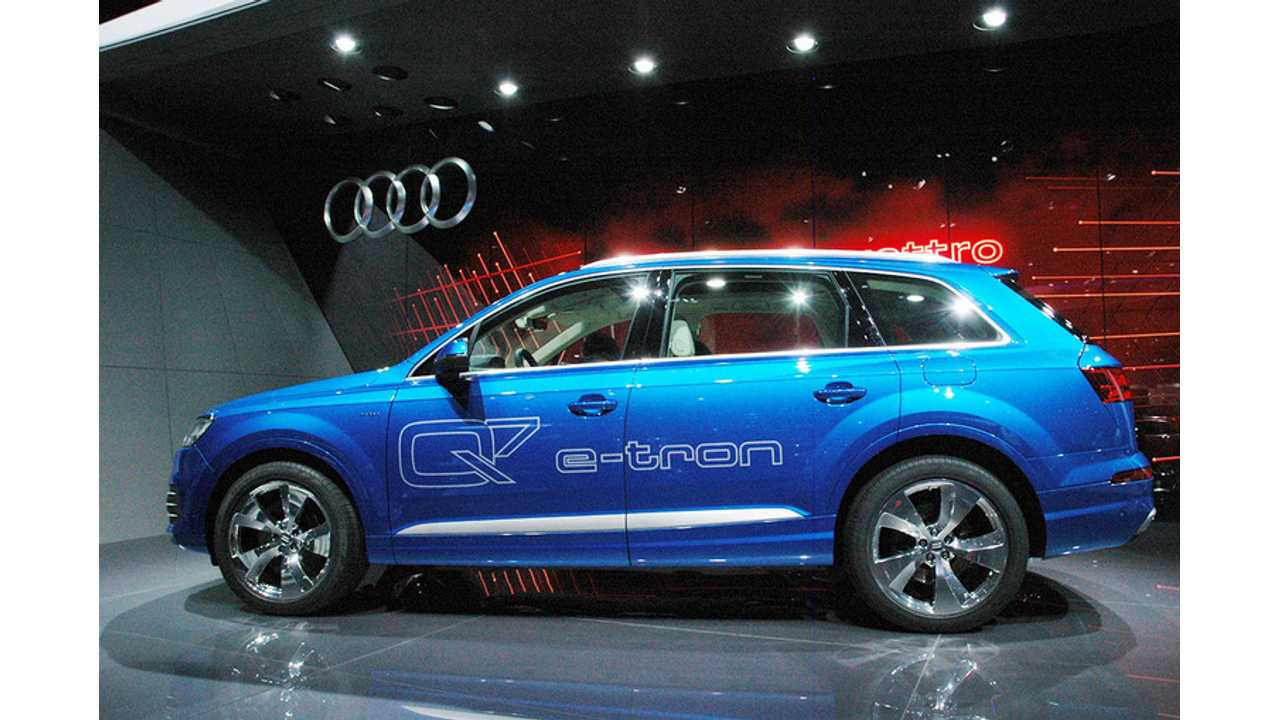 Audi Q7 e-tron Chauffeurs Stars To The Red Carpet Powered Purely By Electricity