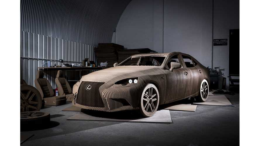 Lexus Builds Cardboard Electric Car - Video