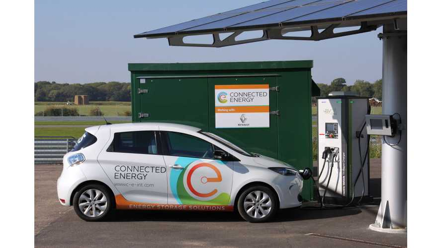 2016 -Connected Energy Ltd E-Stor and Renault ZOE