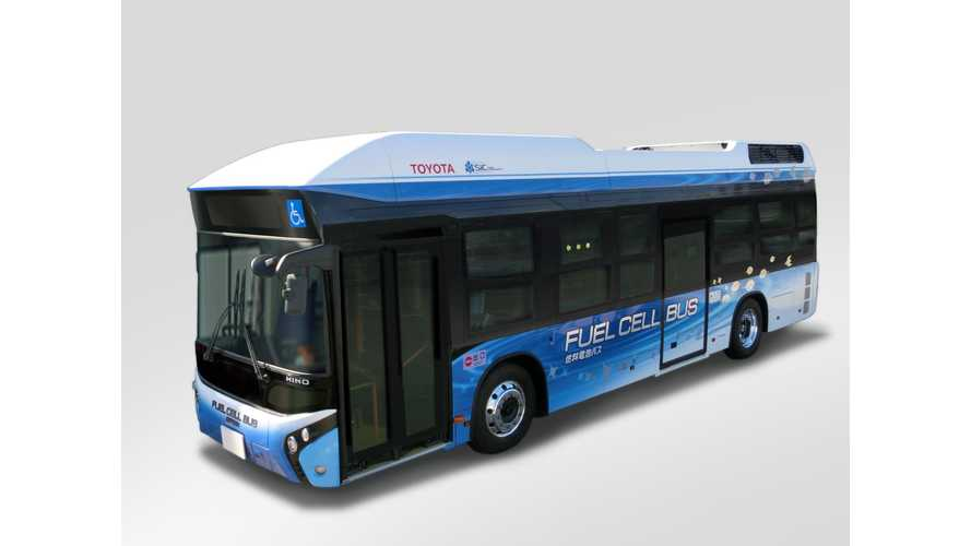 New Toyota-Hino Bus Borrows Hydrogen Fuel Cell System From Mirai