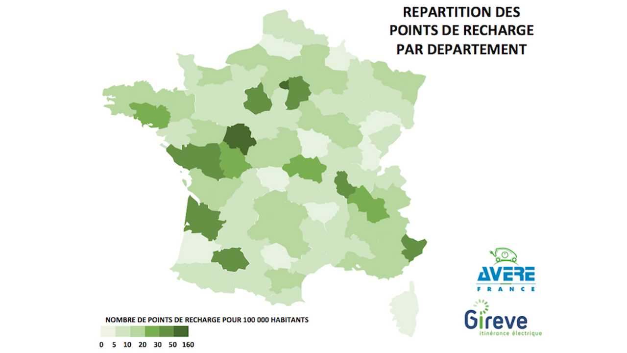 Almost 15,000 Charging Stations Now In Place For France. 85,000 More To By 2020