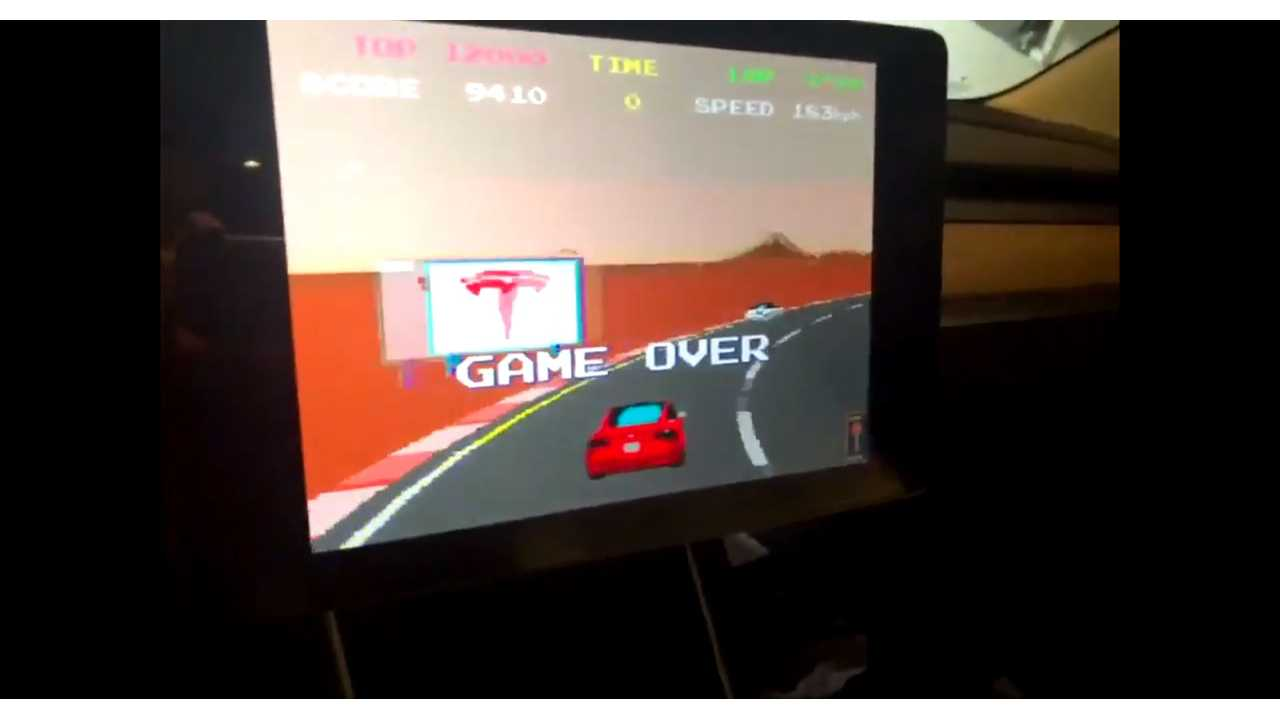 Watch Tesla Model 3 Steering Wheel Control Namco's Pole Position