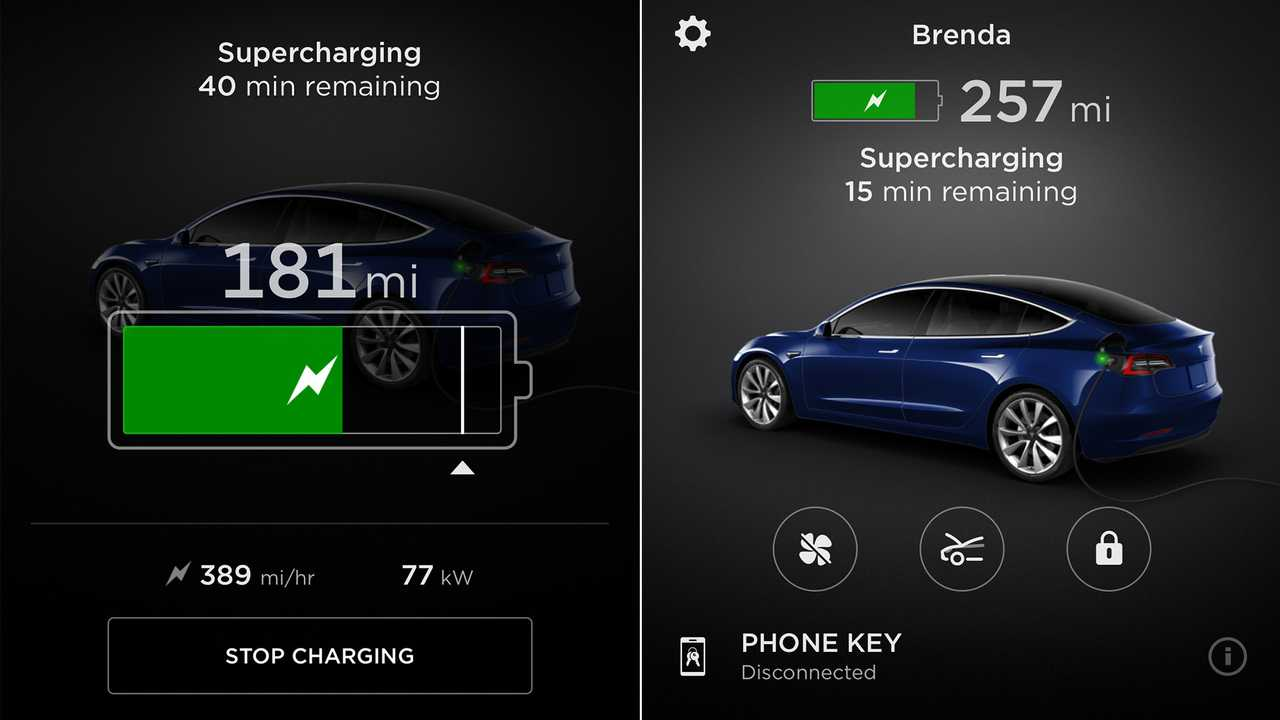 Tesla App Tells You SOC While You're Stretching or Eating
