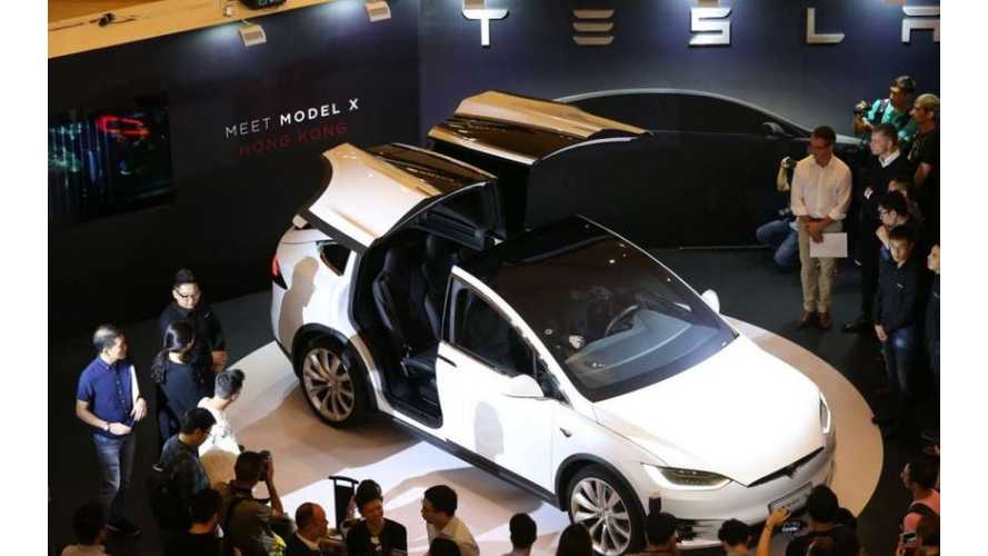 Tesla Model X To Go On Sale In Taiwan