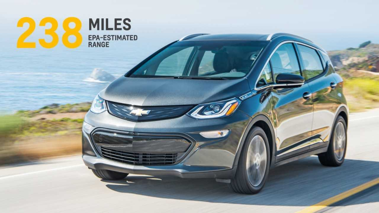 Chevrolet Bolt EV Offers 238 Real World/EPA Rated Miles (383 km) Of Range