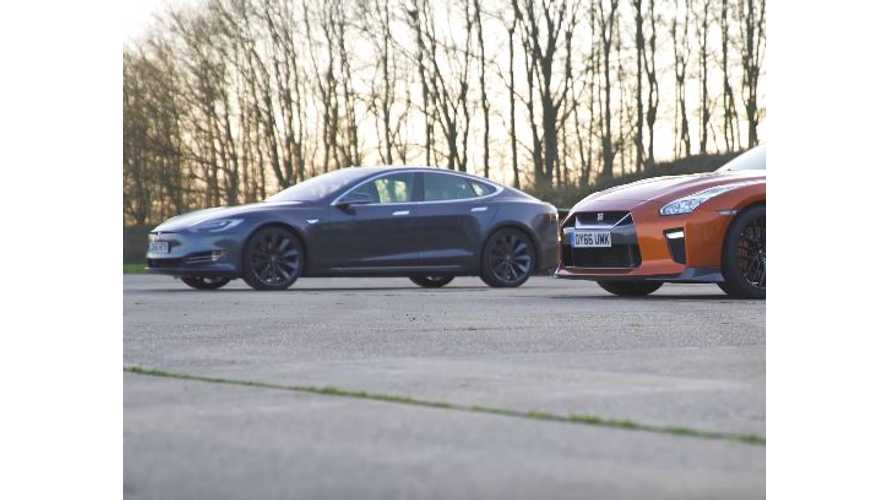 Not Your Typical Head-To-Head Matchup: Tesla Model S 90D Versus Nissan GT-R - Video
