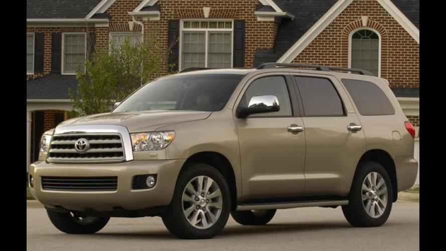 Recall nos EUA: Toyota convoca 50 mil unidades do Sequoia
