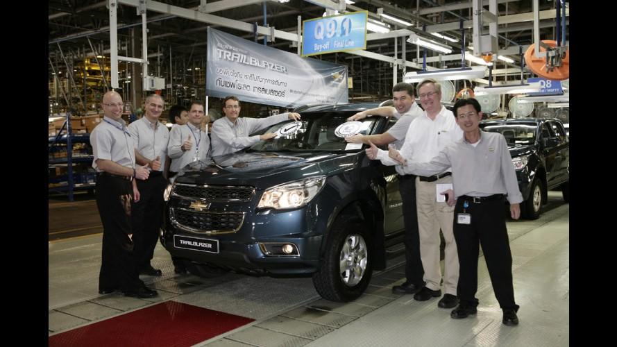 Chevrolet inicia produção do TrailBlazer na Tailândia