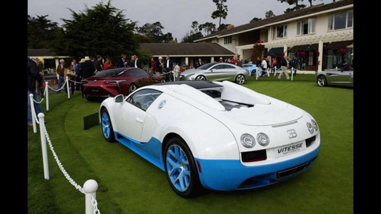 Bugatti mostra Veyron 16.4 Grand Sport Vitesse de 2,5 milhões de dólares em Pebble Beach