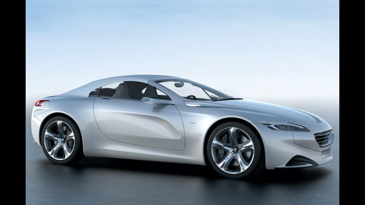 Peugeot divulga a sua nova identidade visual e o novo esportivo híbrido SR1 2010 - Veja fotos