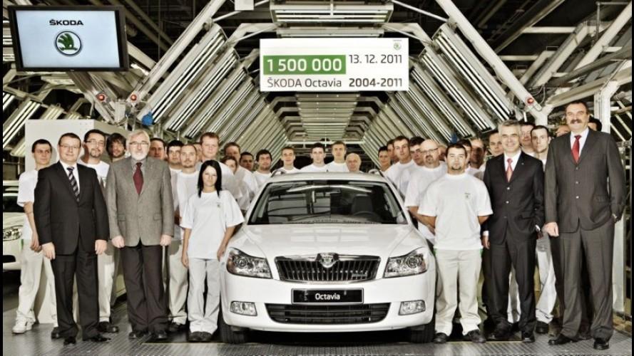 Skoda comemora 1,5 milhão de unidades produzidas do Octavia II em sete anos