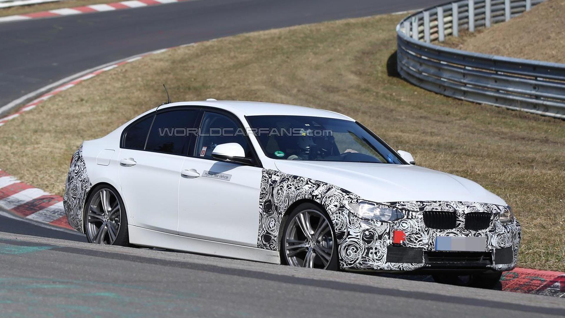 BMW 3-Series facelift spied testing hybrid setup at the