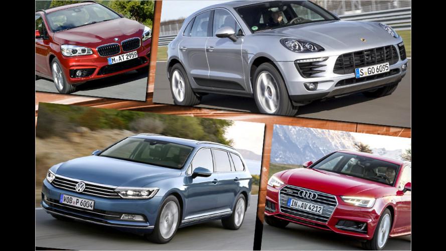 Die wichtigsten Automarken und ihr Dieselanteil bei den Verkäufen