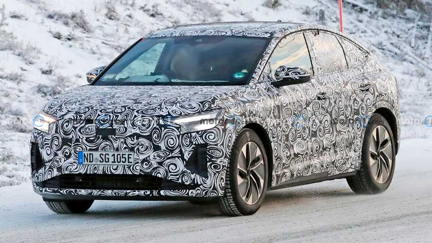 Audi Q4 E-Tron Sportback Spied Testing In The Snow