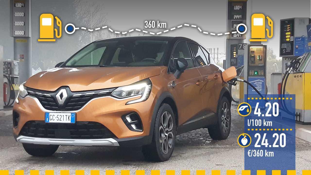 Renault Captur ibrida plug-in, la prova consumi