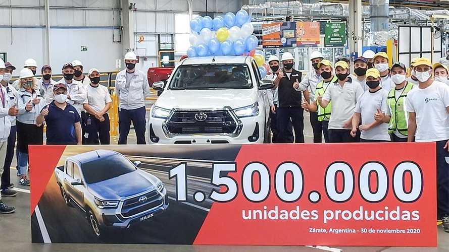 Toyota Hilux e SW4 alcançam 1,5 milhão de unidades produzidas na Argentina
