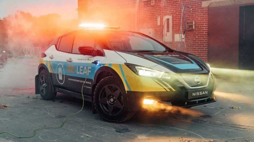 Nissan Shows Off Raised, Rugged RE-LEAF Emergency Response Vehicle Concept