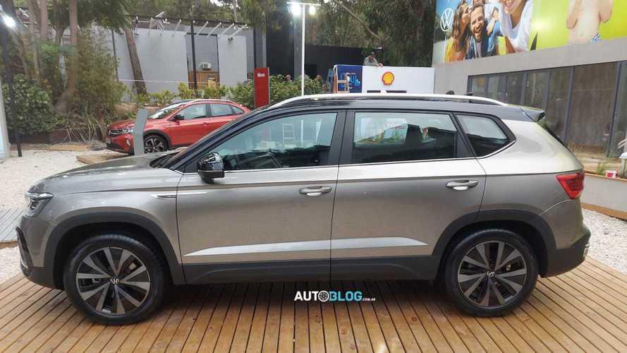 VW Taos já é exibido para o público ao lado do Nivus na Argentina