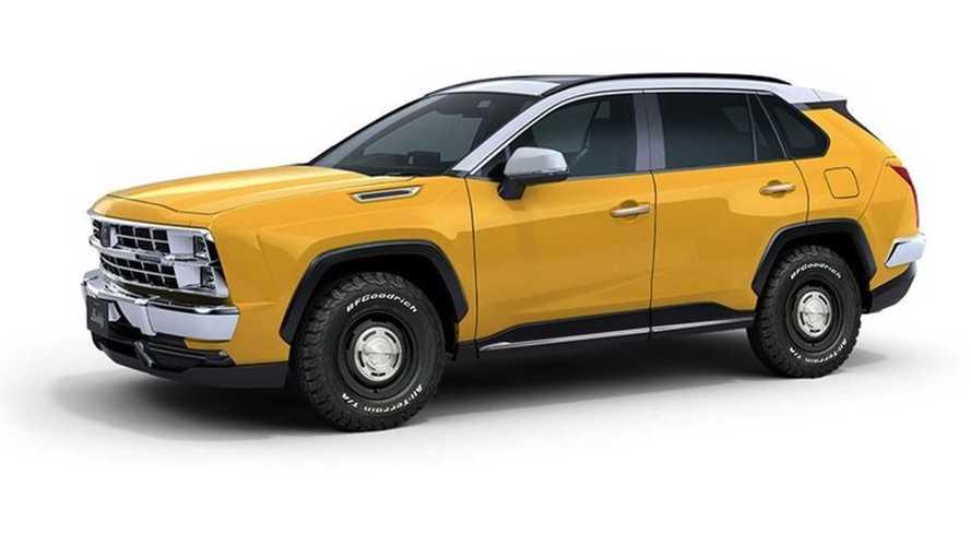 Ecco come la Toyota RAV4 si trasforma con look anni '80
