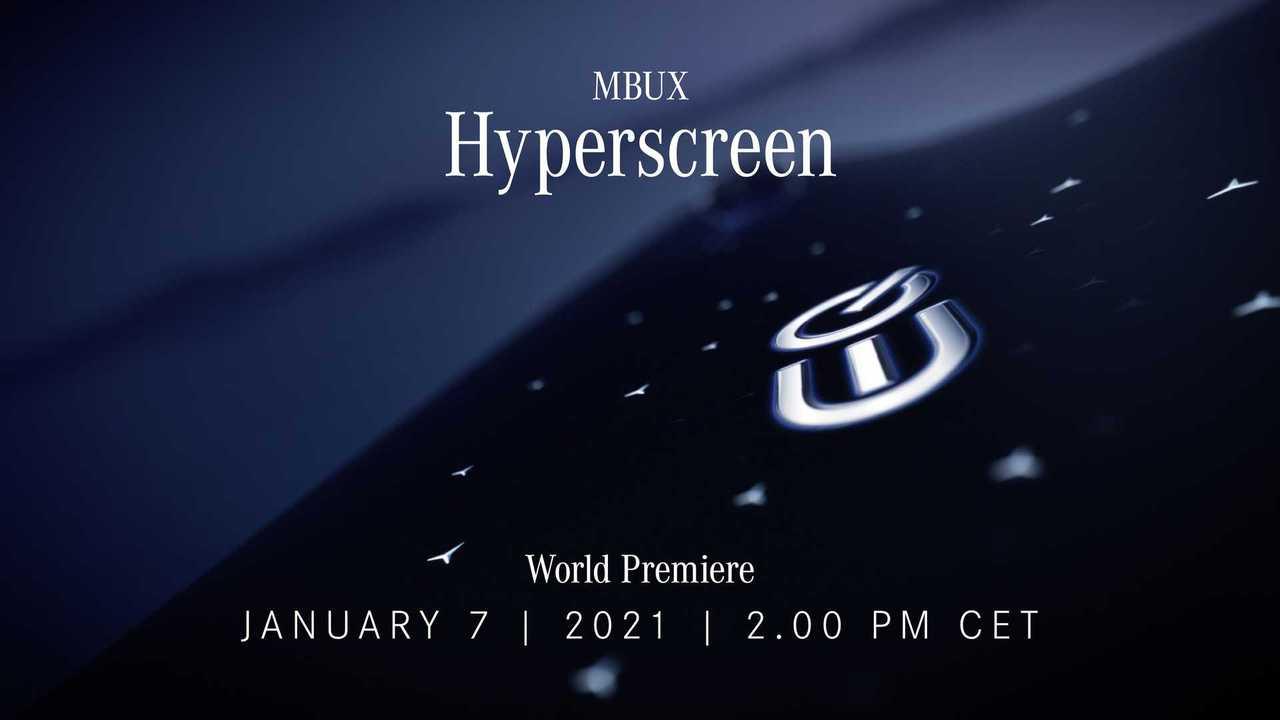 Mercedes-Benz MBUX Hyperscreen İpucu (Teaser)
