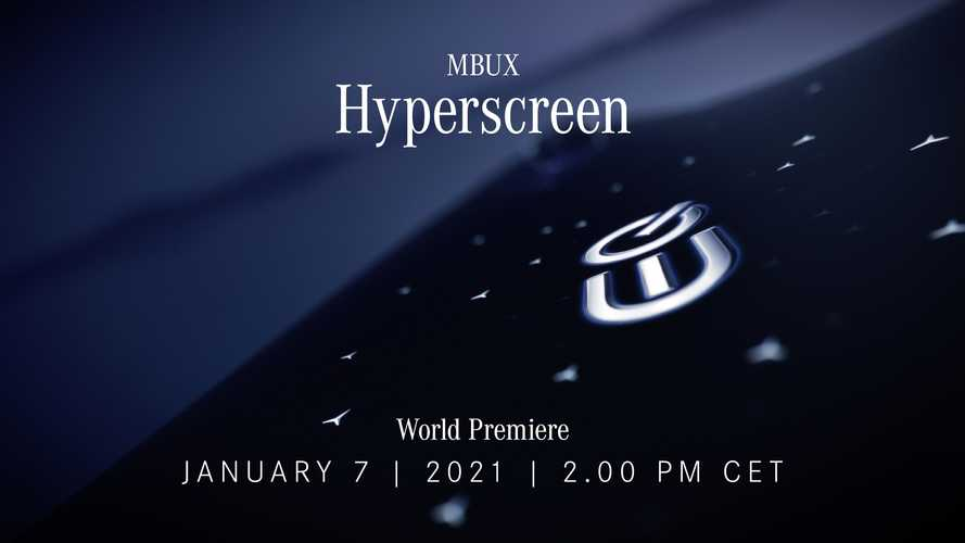 Mercedes Hyperscreen display teased, will span entire dashboard