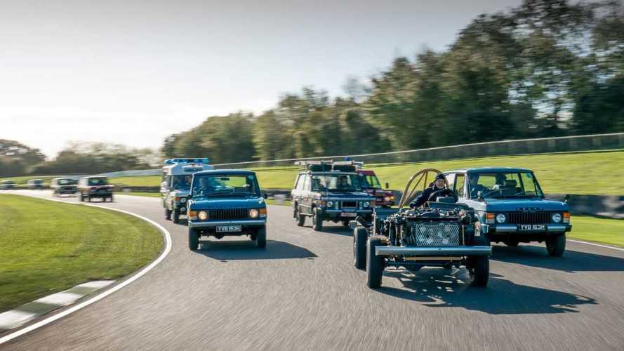 Парад в честь 50-летия Range Rover