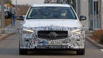 2022 Mercedes C-Class spy photos with less camouflage