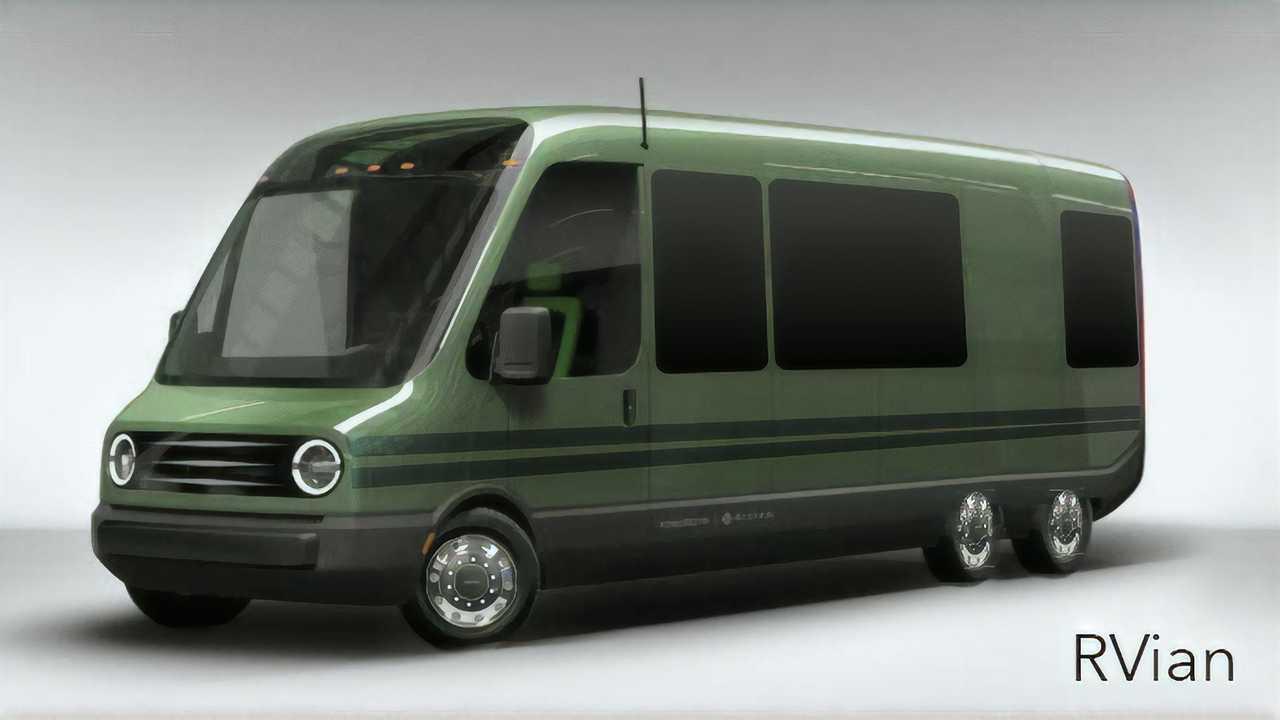 RVian Rivian Delivery Van Rendering