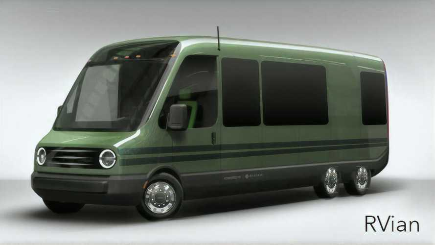 Meet The RVian, A GMC Motorhome-Inspired Take On Rivian's Delivery Van